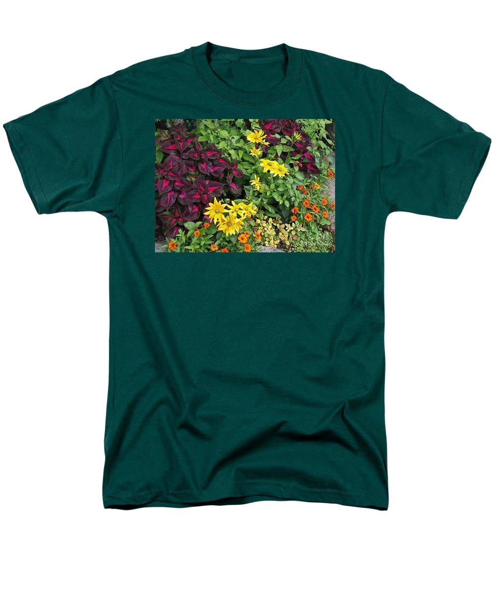 Garden Men's T-Shirt (Regular Fit) featuring the photograph Rock Garden by Ann Horn
