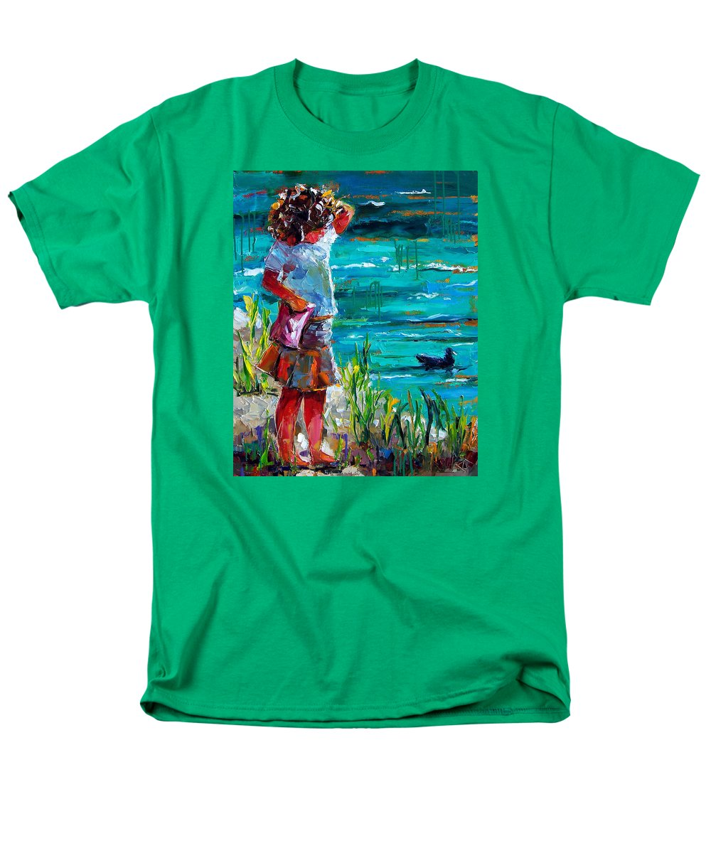 Children Men's T-Shirt (Regular Fit) featuring the painting One Lucky Duck by Debra Hurd