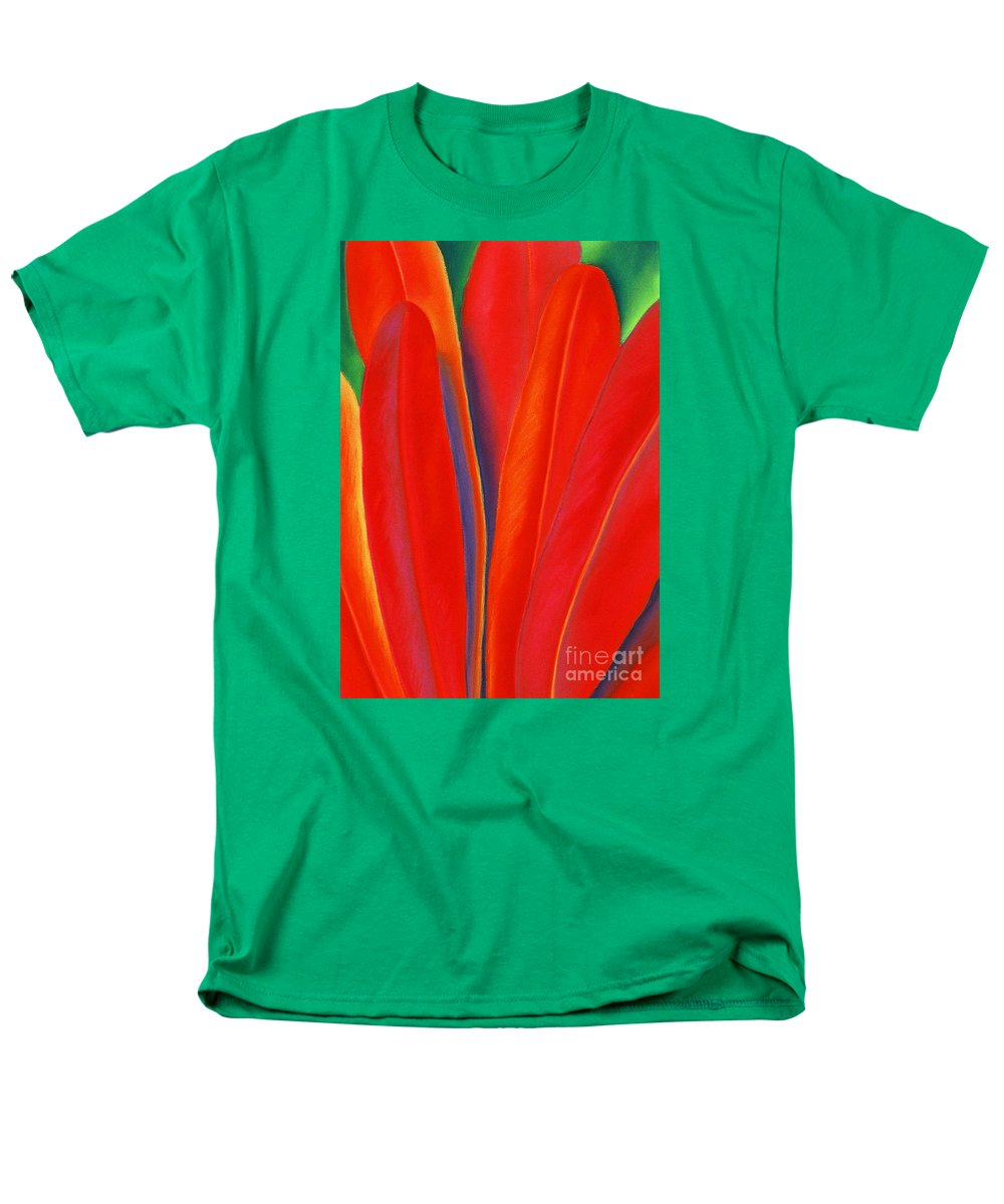 Red Men's T-Shirt (Regular Fit) featuring the painting Red Petals by Lucy Arnold