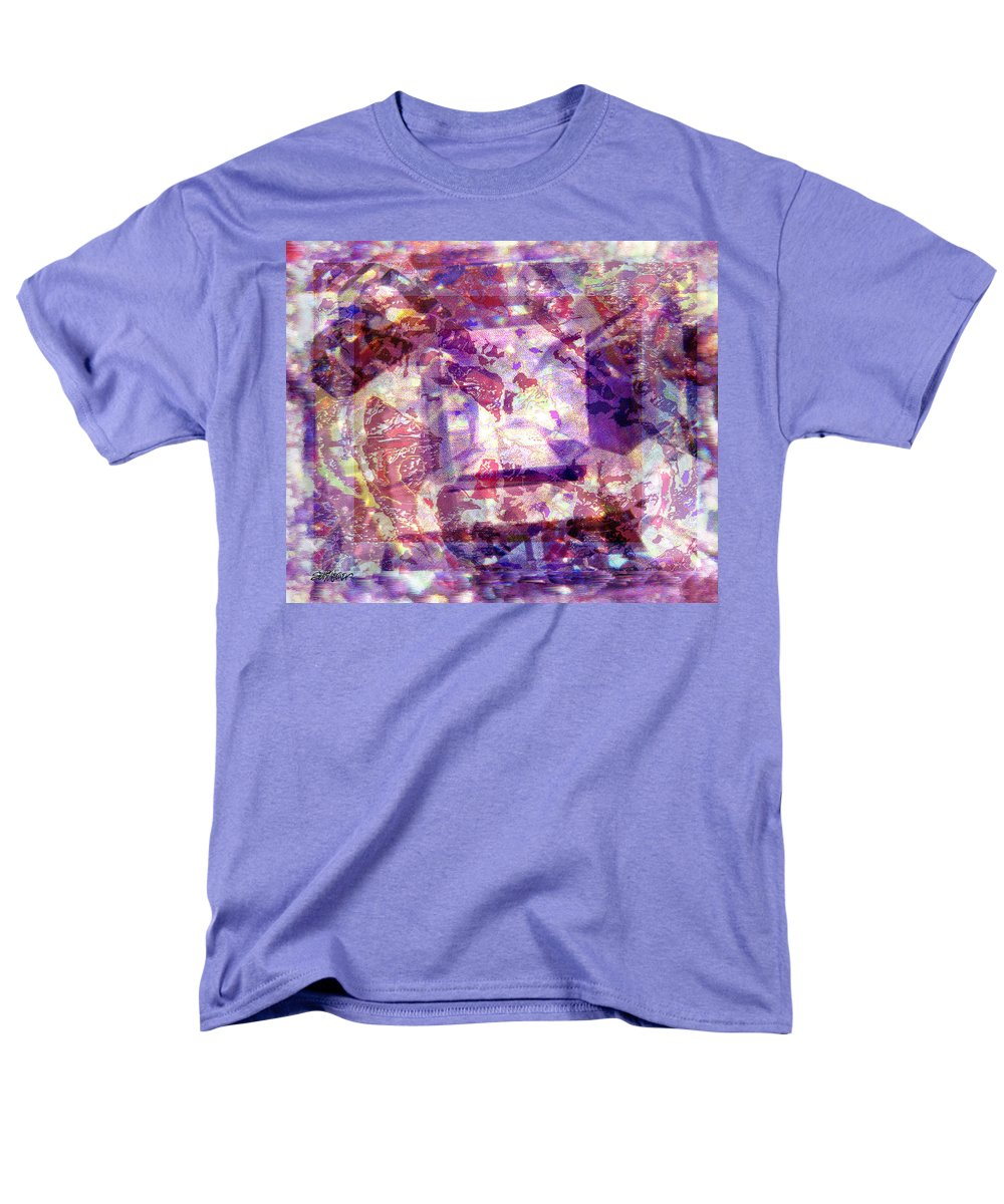 Abstract Men's T-Shirt (Regular Fit) featuring the digital art AbStacked by Seth Weaver