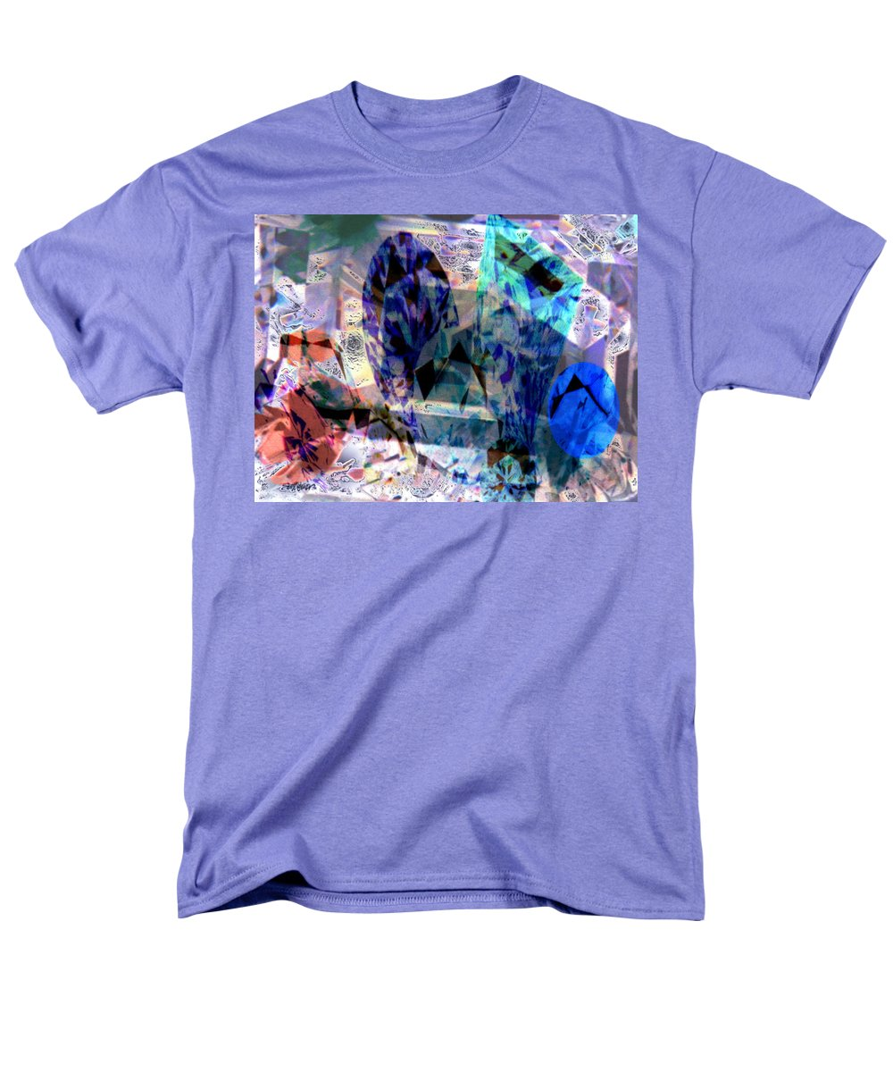 Abstract Men's T-Shirt (Regular Fit) featuring the photograph Gems of Ice by Seth Weaver