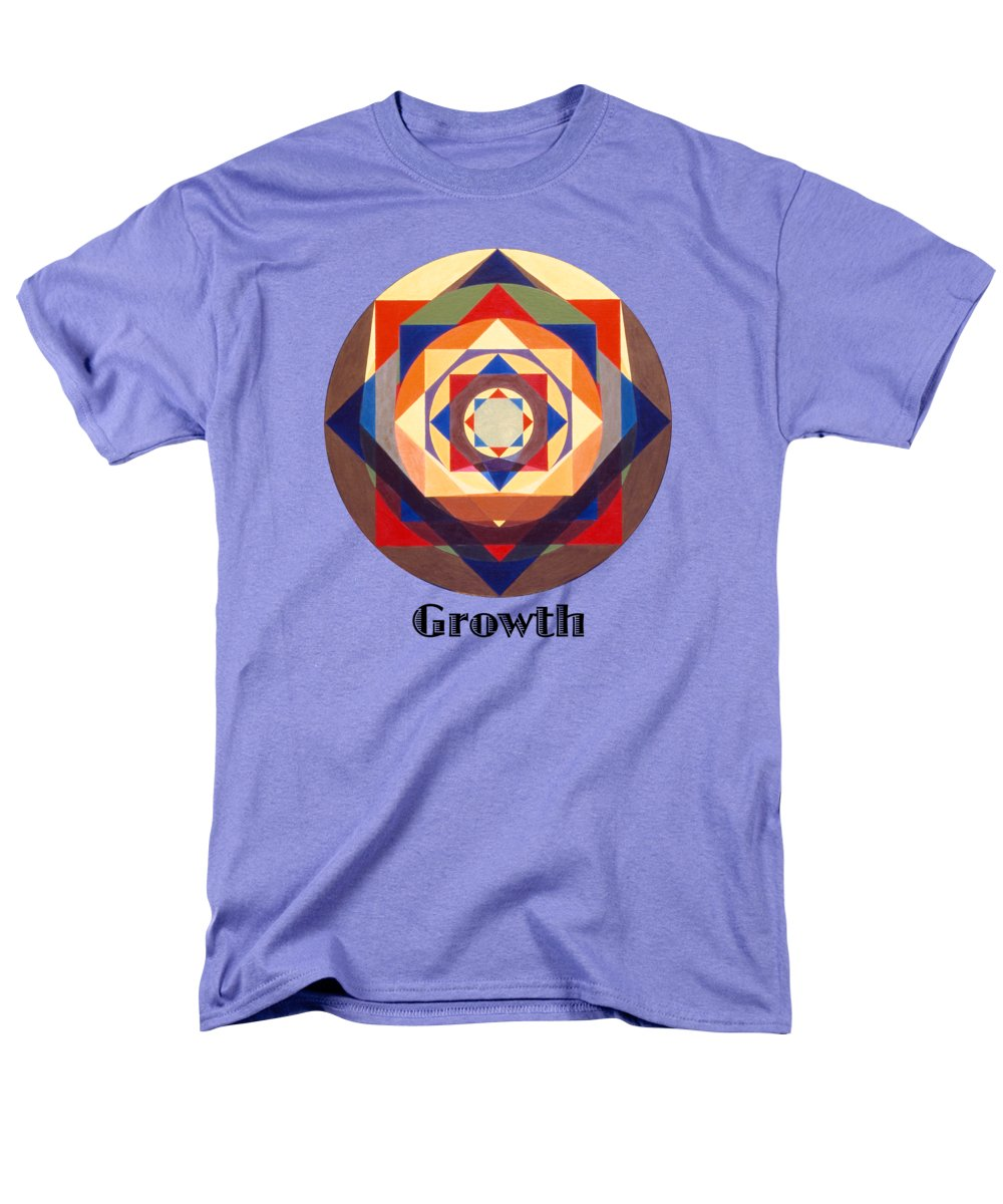 Painting Men's T-Shirt (Regular Fit) featuring the painting Growth text by Michael Bellon