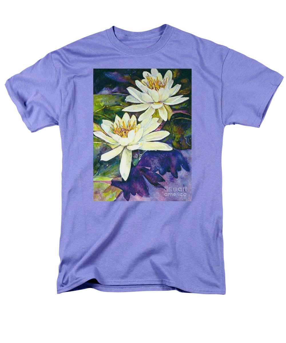 Flower Men's T-Shirt (Regular Fit) featuring the painting Water Lilies by Norma Boeckler