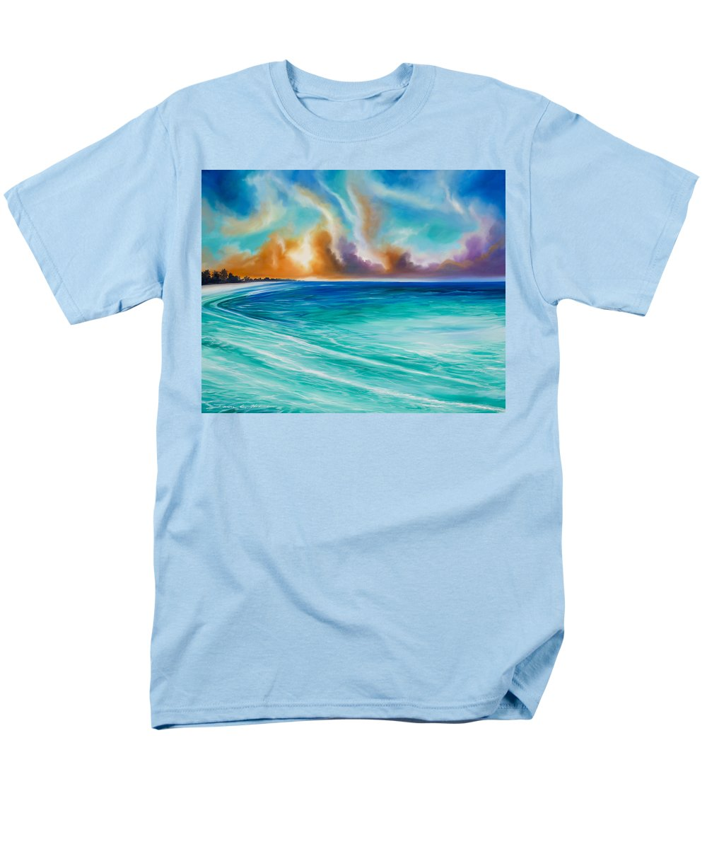 Sunrise Men's T-Shirt (Regular Fit) featuring the painting Cazumel by James Christopher Hill