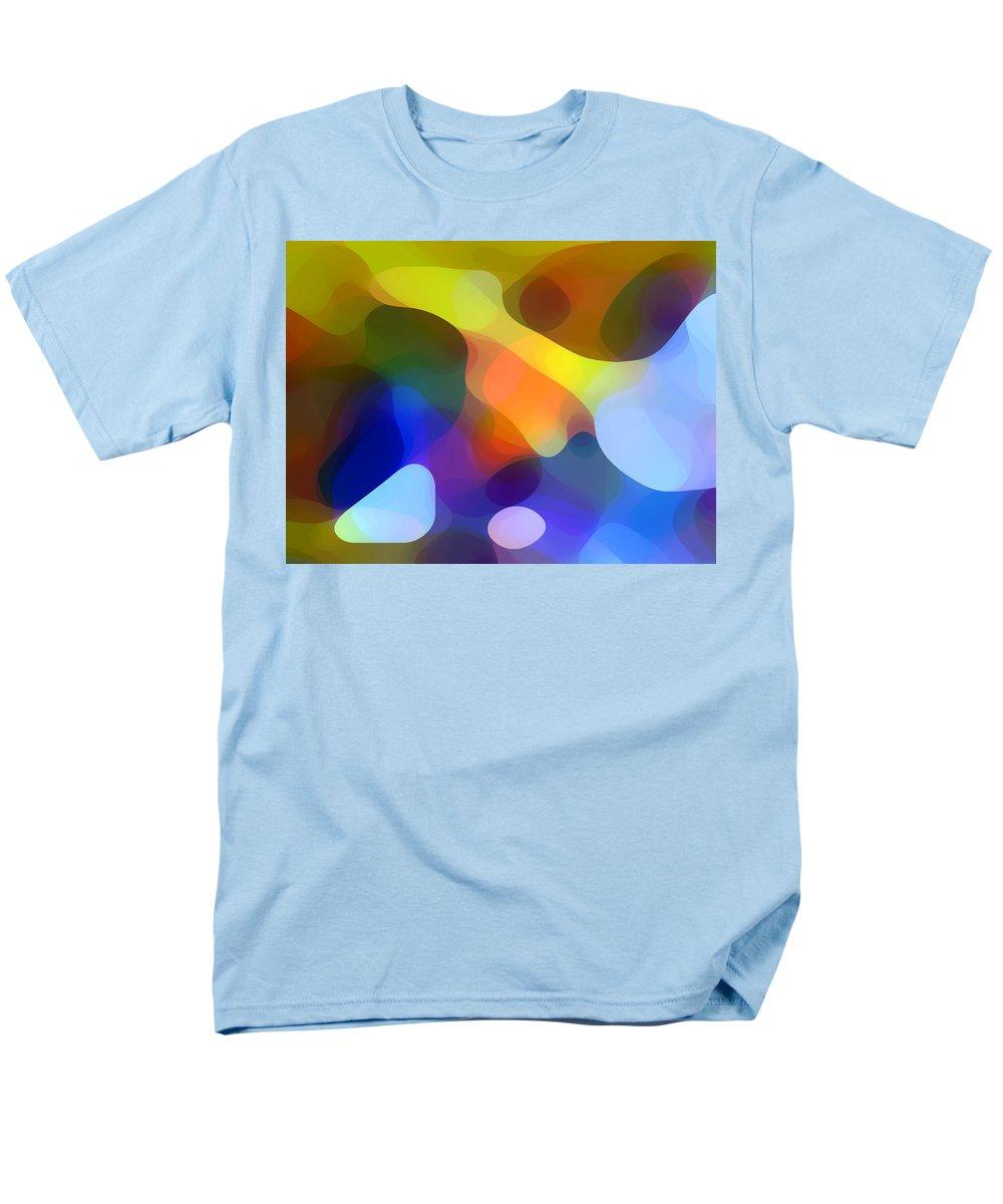 Bold Men's T-Shirt (Regular Fit) featuring the painting Cool Dappled Light by Amy Vangsgard