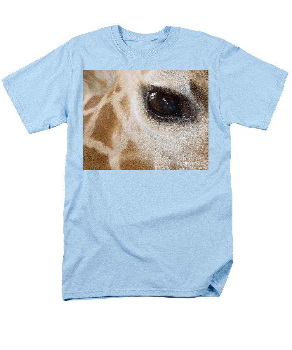 Giraffe Men's T-Shirt (Regular Fit) featuring the photograph Giraffe Eye by Heather Coen