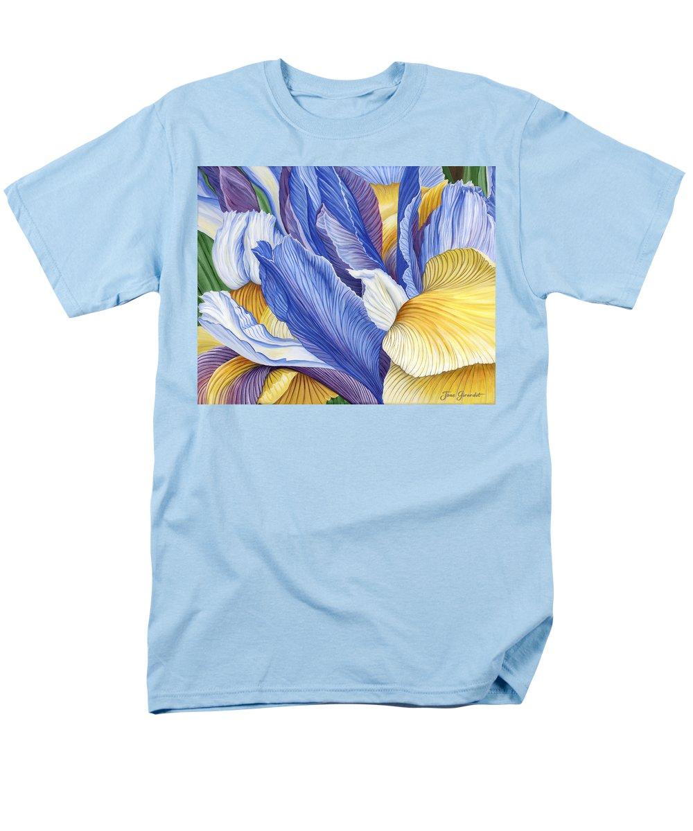 Iris Men's T-Shirt (Regular Fit) featuring the painting Iris by Jane Girardot