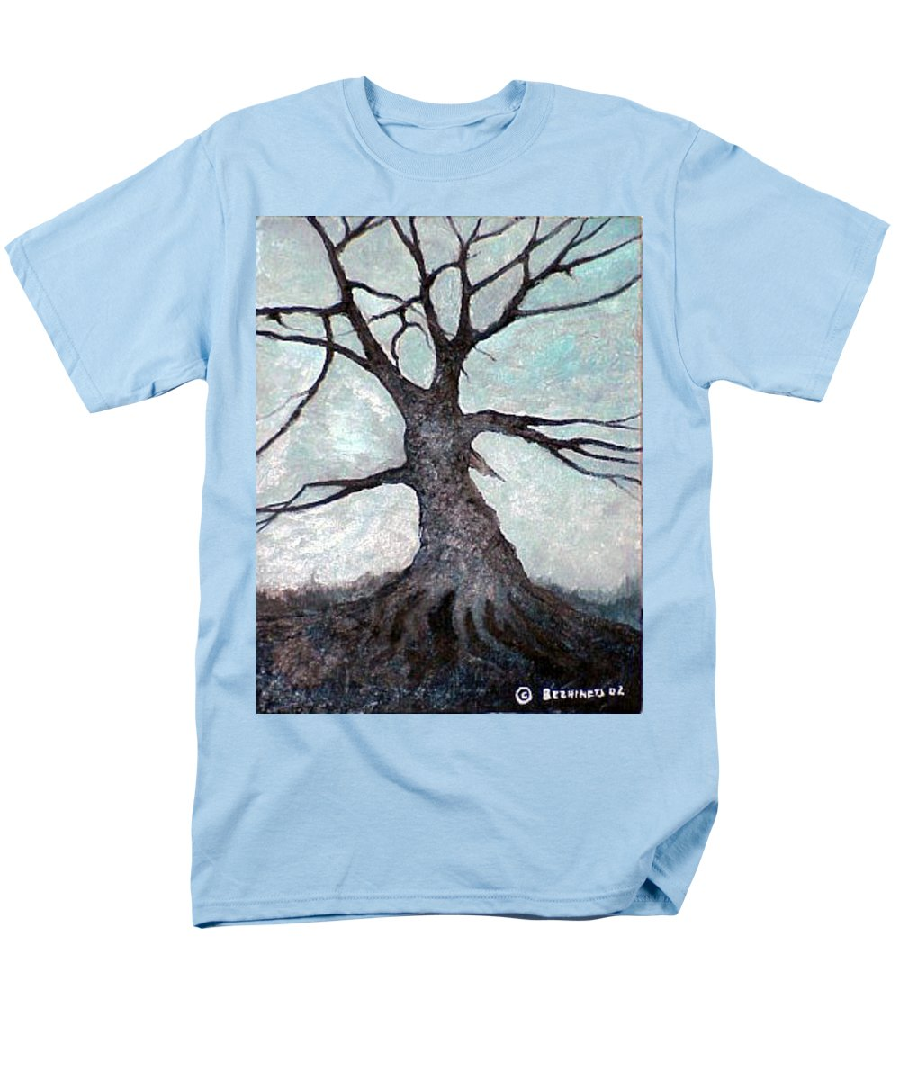 Landscape Men's T-Shirt (Regular Fit) featuring the painting Old Tree by Sergey Bezhinets