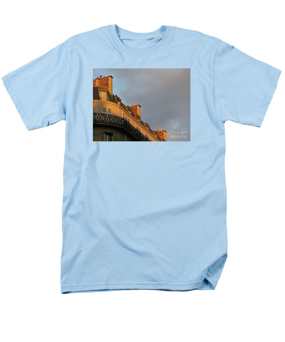 Paris Men's T-Shirt (Regular Fit) featuring the photograph Paris at Sunset by Ann Horn