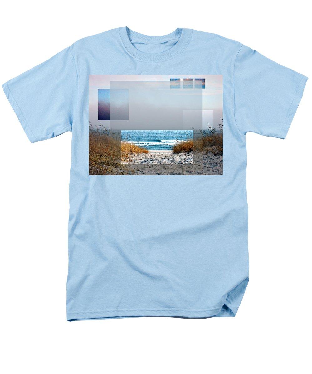 Beach Men's T-Shirt (Regular Fit) featuring the photograph Beach Collage by Steve Karol