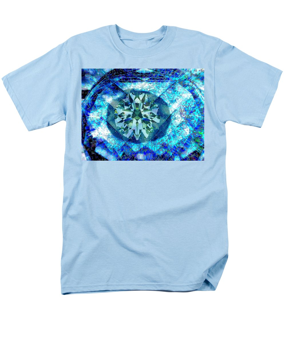 Abstract Men's T-Shirt (Regular Fit) featuring the digital art Behold the Jeweled Eye by Seth Weaver