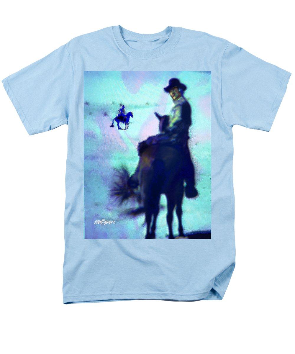 Blue Men's T-Shirt (Regular Fit) featuring the digital art Blue Riders by Seth Weaver
