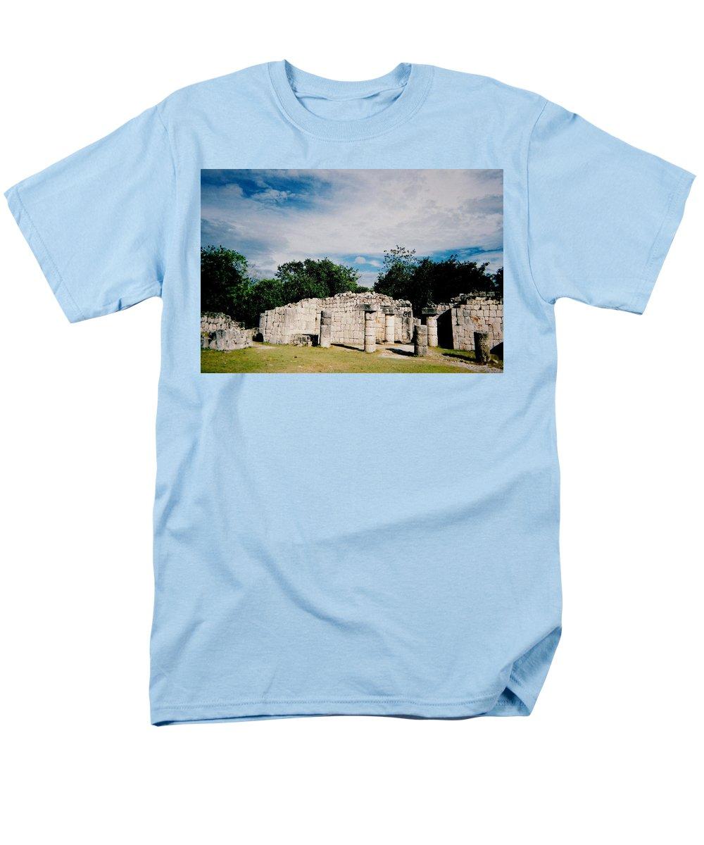 Chitchen Itza Men's T-Shirt (Regular Fit) featuring the photograph Chichen Itza 2 by Anita Burgermeister