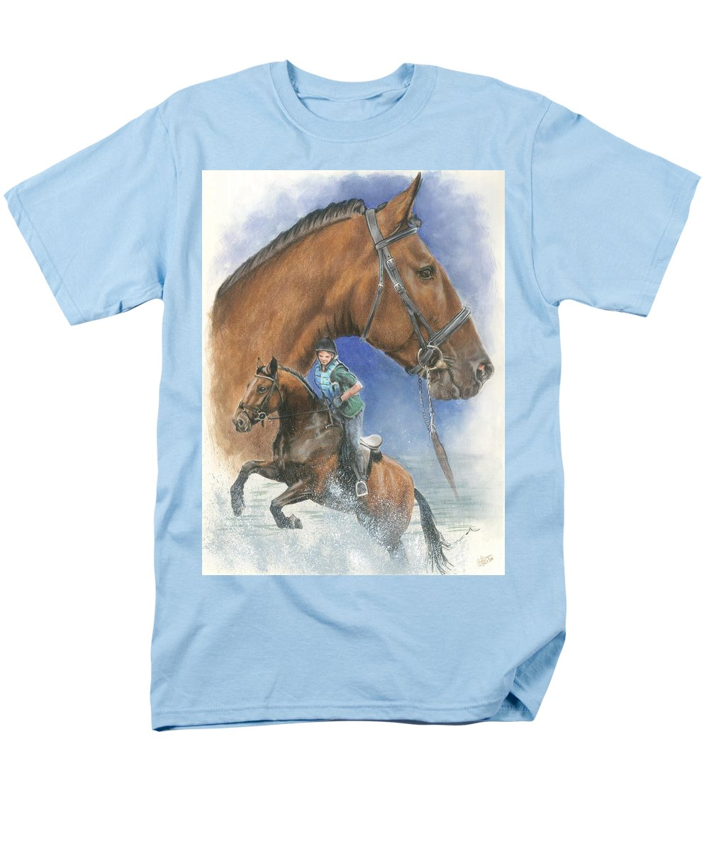 Hunter Jumper Men's T-Shirt (Regular Fit) featuring the mixed media Cleveland Bay by Barbara Keith