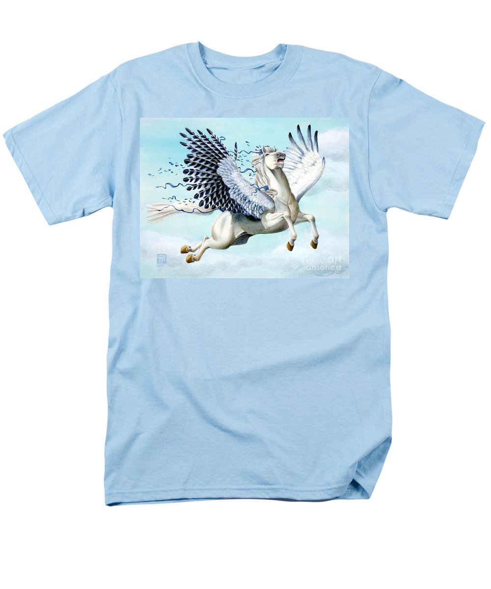 Artwork Men's T-Shirt (Regular Fit) featuring the painting Cory Pegasus by Melissa A Benson