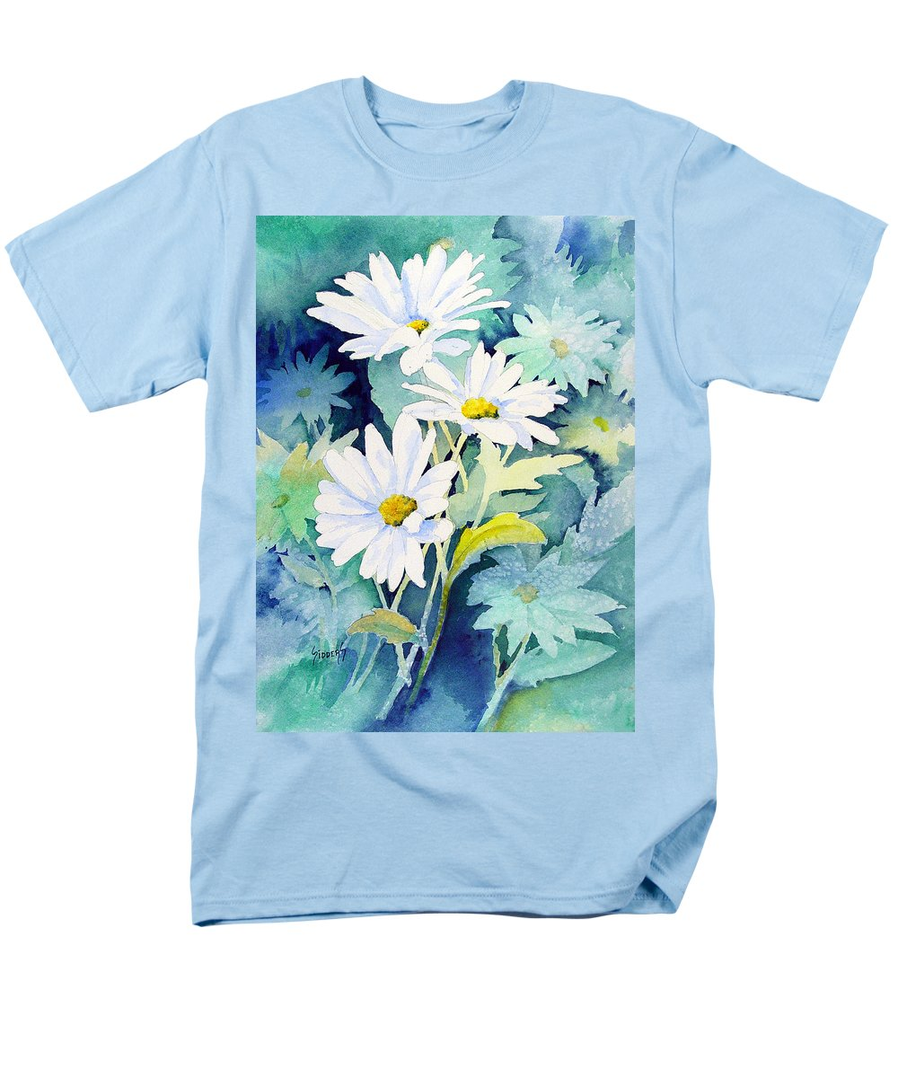 Flowers Men's T-Shirt (Regular Fit) featuring the painting Daisies by Sam Sidders