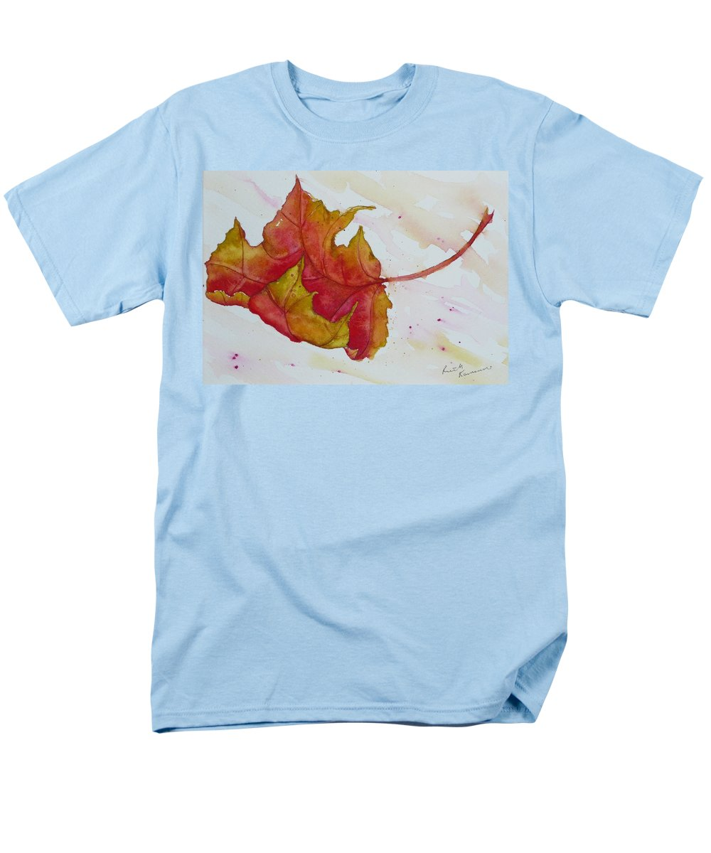 Fall Men's T-Shirt (Regular Fit) featuring the painting Descending by Ruth Kamenev