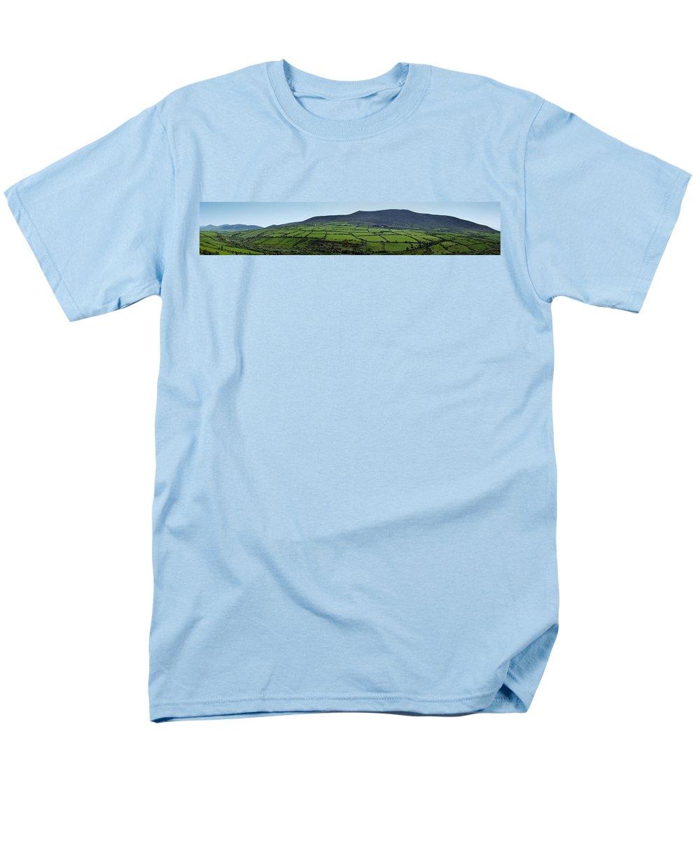 Irish Men's T-Shirt (Regular Fit) featuring the photograph Dingle Peninsula Panorama Ireland by Teresa Mucha
