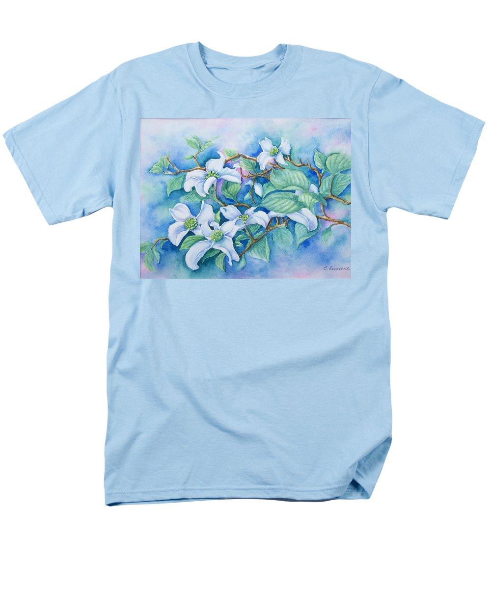Floral Men's T-Shirt (Regular Fit) featuring the painting Dogwood by Conni Reinecke