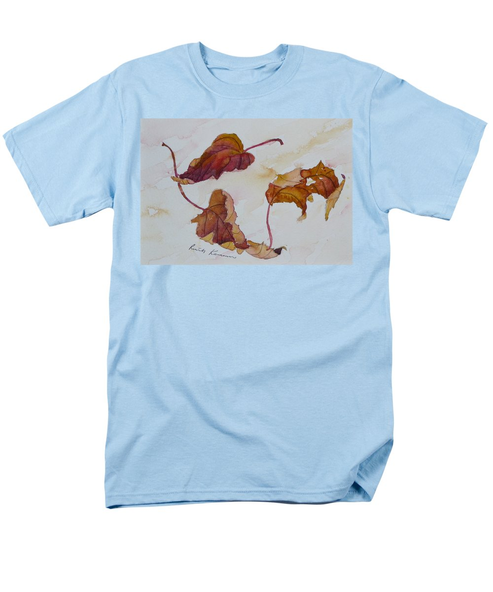 Fall Men's T-Shirt (Regular Fit) featuring the painting Floating by Ruth Kamenev