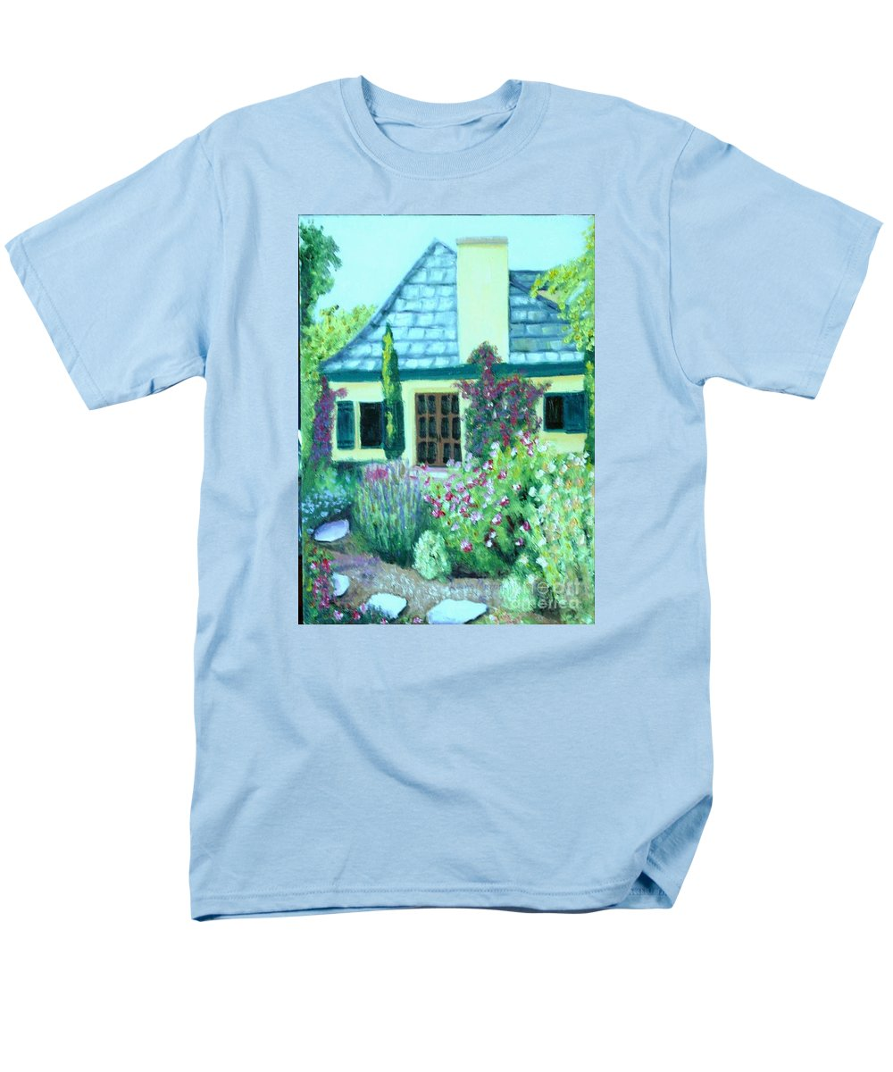 Cottage Men's T-Shirt (Regular Fit) featuring the painting Guest Cottage by Laurie Morgan