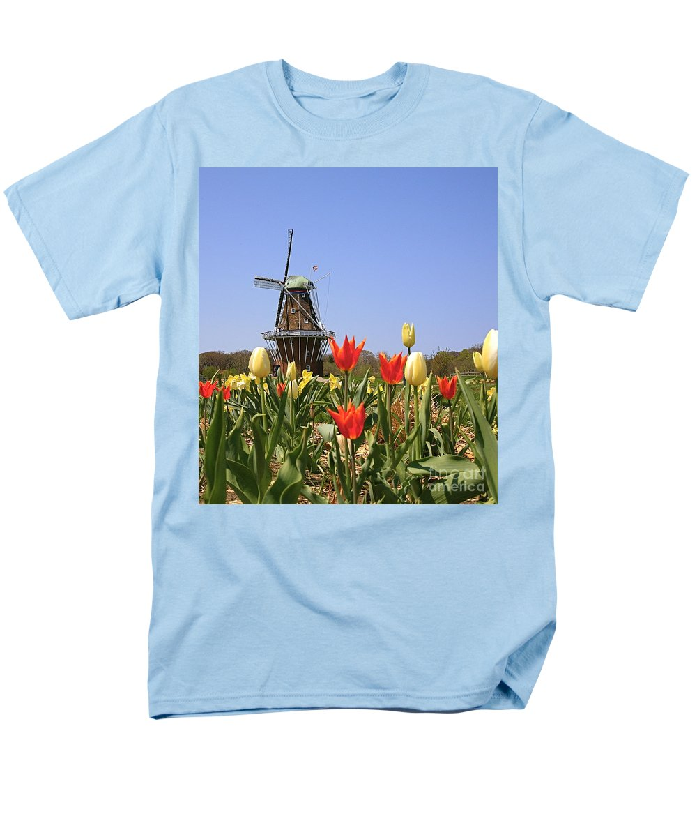 Tulips Men's T-Shirt (Regular Fit) featuring the photograph Its Tulip Time by Robert Pearson