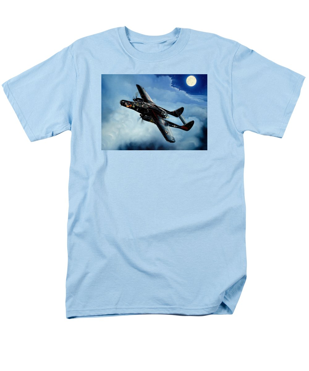 Military Men's T-Shirt (Regular Fit) featuring the painting Lady in the Dark by Marc Stewart