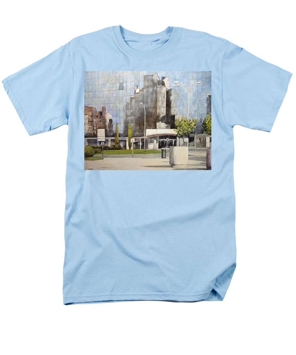 Leon Men's T-Shirt (Regular Fit) featuring the painting Leon by Tomas Castano