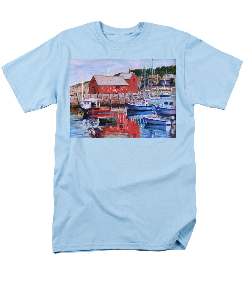 Rockport Men's T-Shirt (Regular Fit) featuring the painting Motif Number One by Richard Nowak