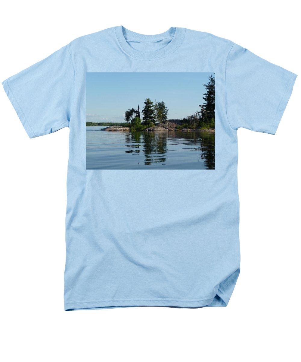 Lake Men's T-Shirt (Regular Fit) featuring the photograph Natural Breakwater by Ruth Kamenev