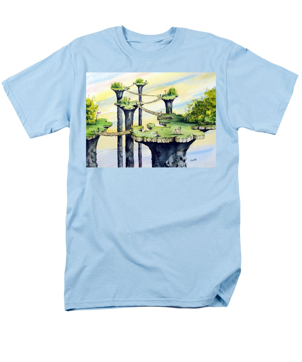 Golf Men's T-Shirt (Regular Fit) featuring the painting Nod Country Club by Sam Sidders