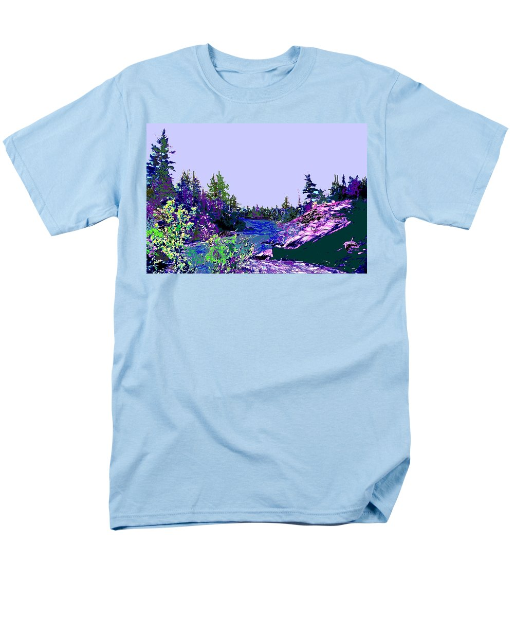 Norlthern Men's T-Shirt (Regular Fit) featuring the photograph Northern Ontario River by Ian MacDonald
