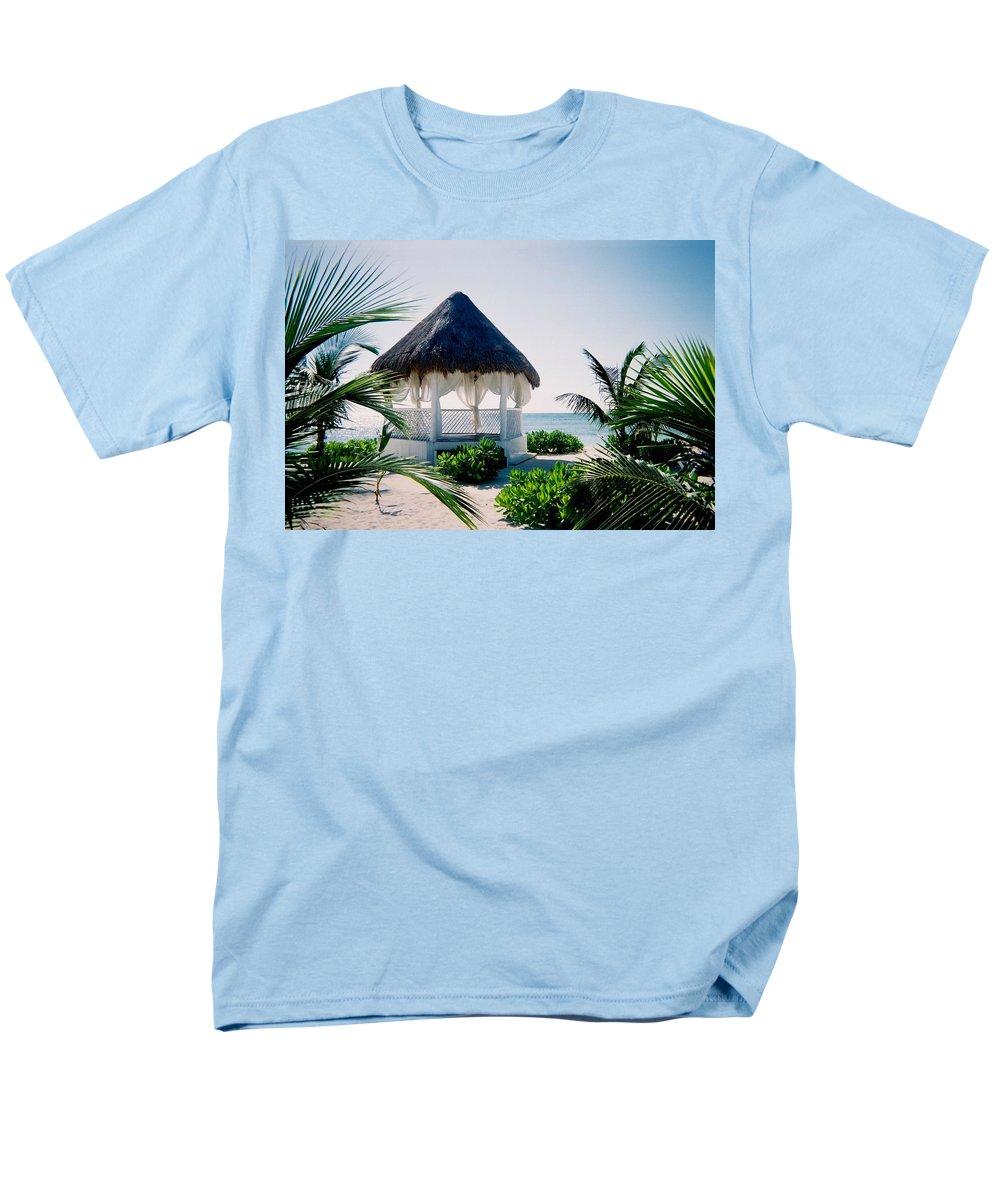 Resort Men's T-Shirt (Regular Fit) featuring the photograph Ocean Gazebo by Anita Burgermeister