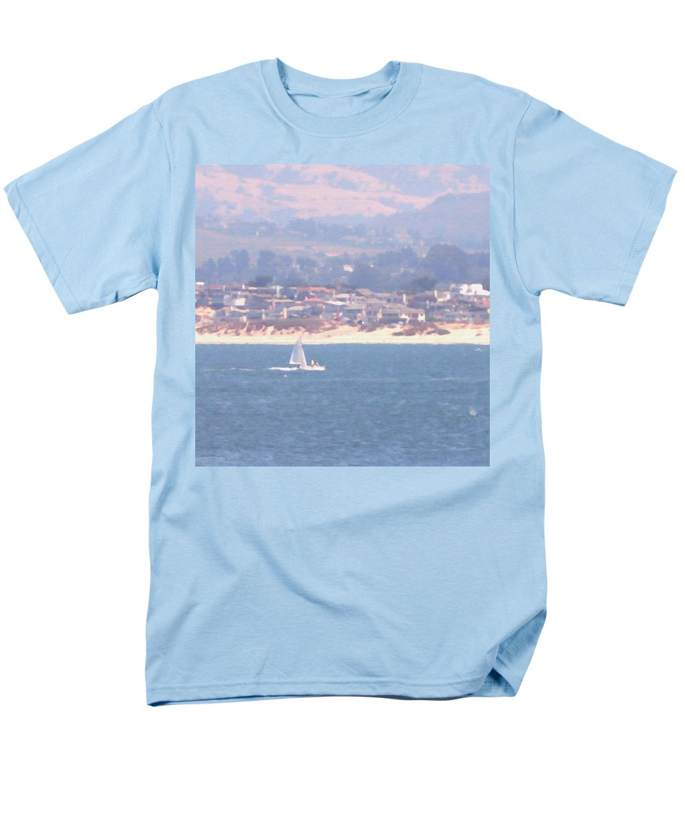 Sailing Men's T-Shirt (Regular Fit) featuring the photograph Pastel Sail by Pharris Art