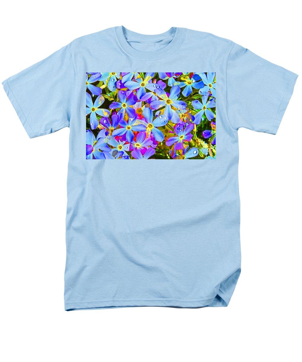 Wildflower Men's T-Shirt (Regular Fit) featuring the photograph Pincushion Flower by Heather Coen