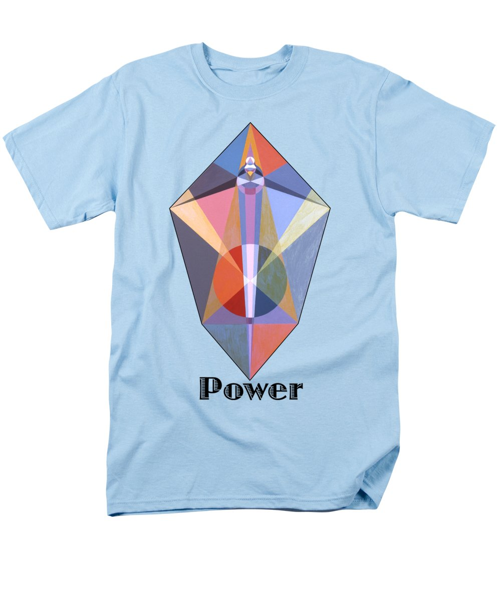 Painting Men's T-Shirt (Regular Fit) featuring the painting Power text by Michael Bellon