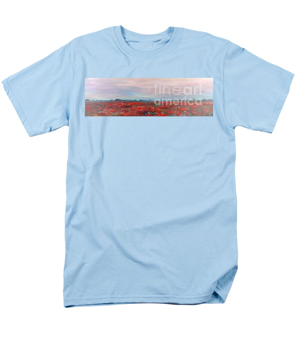 Poppies Men's T-Shirt (Regular Fit) featuring the painting Provence Poppies by Nadine Rippelmeyer