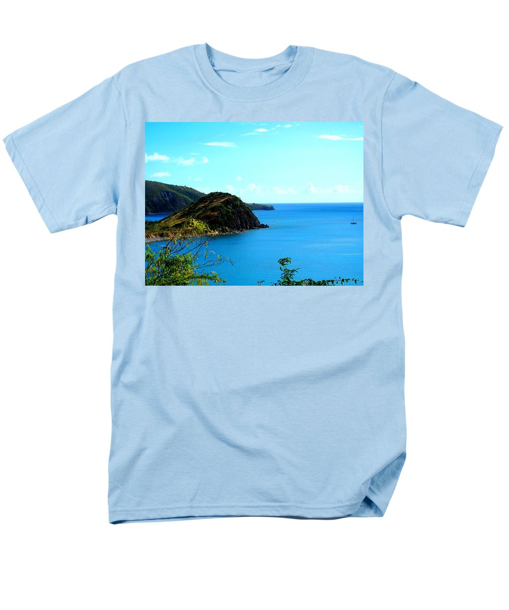 St Kitts Men's T-Shirt (Regular Fit) featuring the photograph Safe Harbor by Ian MacDonald