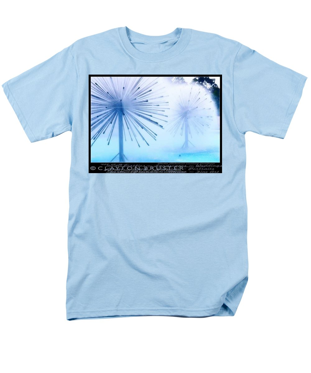 Clay Men's T-Shirt (Regular Fit) featuring the photograph Southern California Fountains by Clayton Bruster