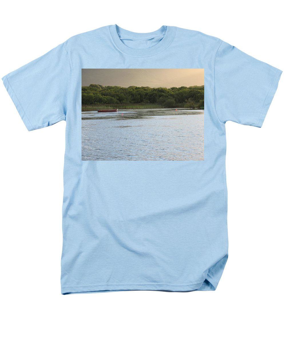 Boat Men's T-Shirt (Regular Fit) featuring the photograph Sunset Over Killarney by Kelly Mezzapelle
