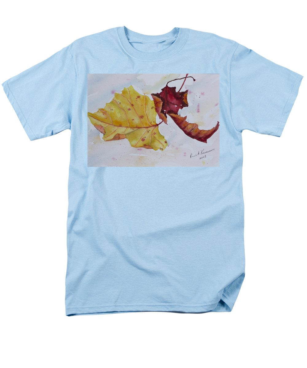 Fall Men's T-Shirt (Regular Fit) featuring the painting Tumbling by Ruth Kamenev