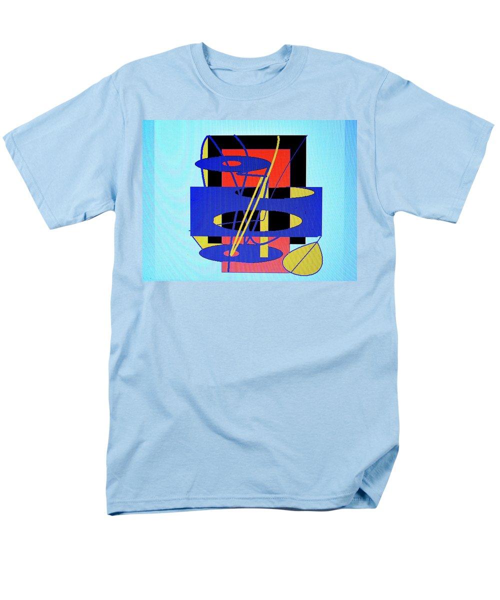 Abstract Men's T-Shirt (Regular Fit) featuring the digital art Widget World by Ian MacDonald