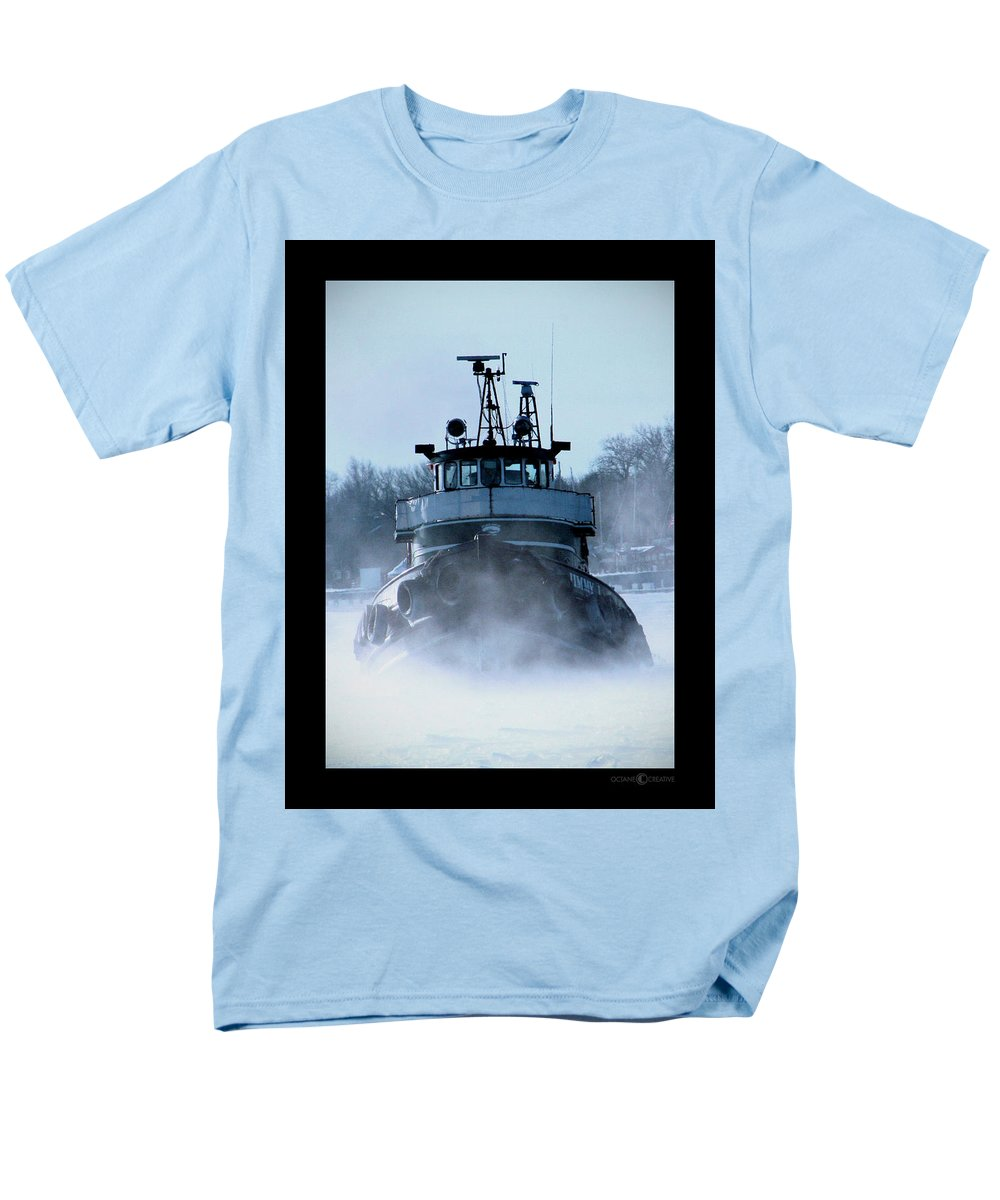 Tug Men's T-Shirt (Regular Fit) featuring the photograph Winter Tug by Tim Nyberg