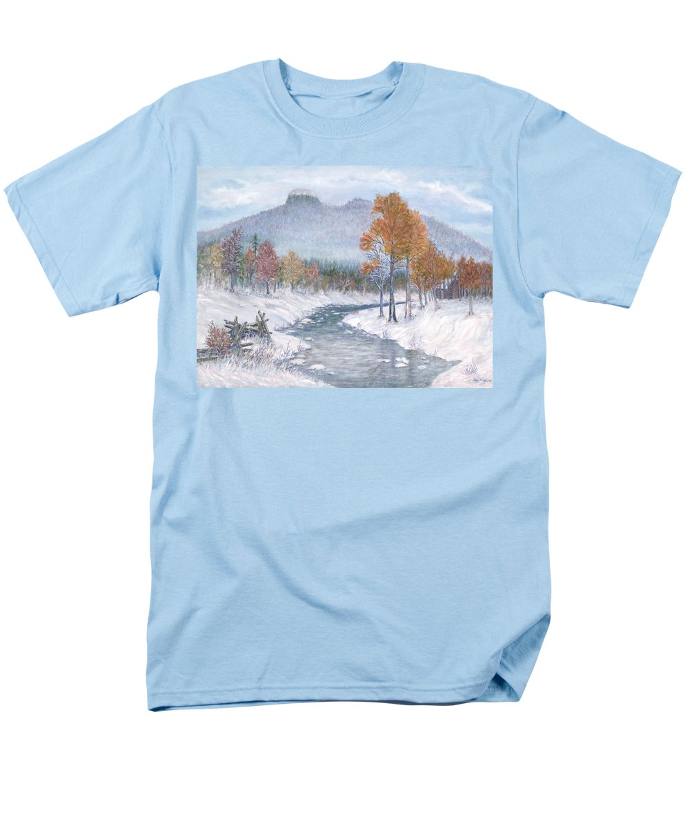 Snow Men's T-Shirt (Regular Fit) featuring the painting Autumn Snow by Ben Kiger