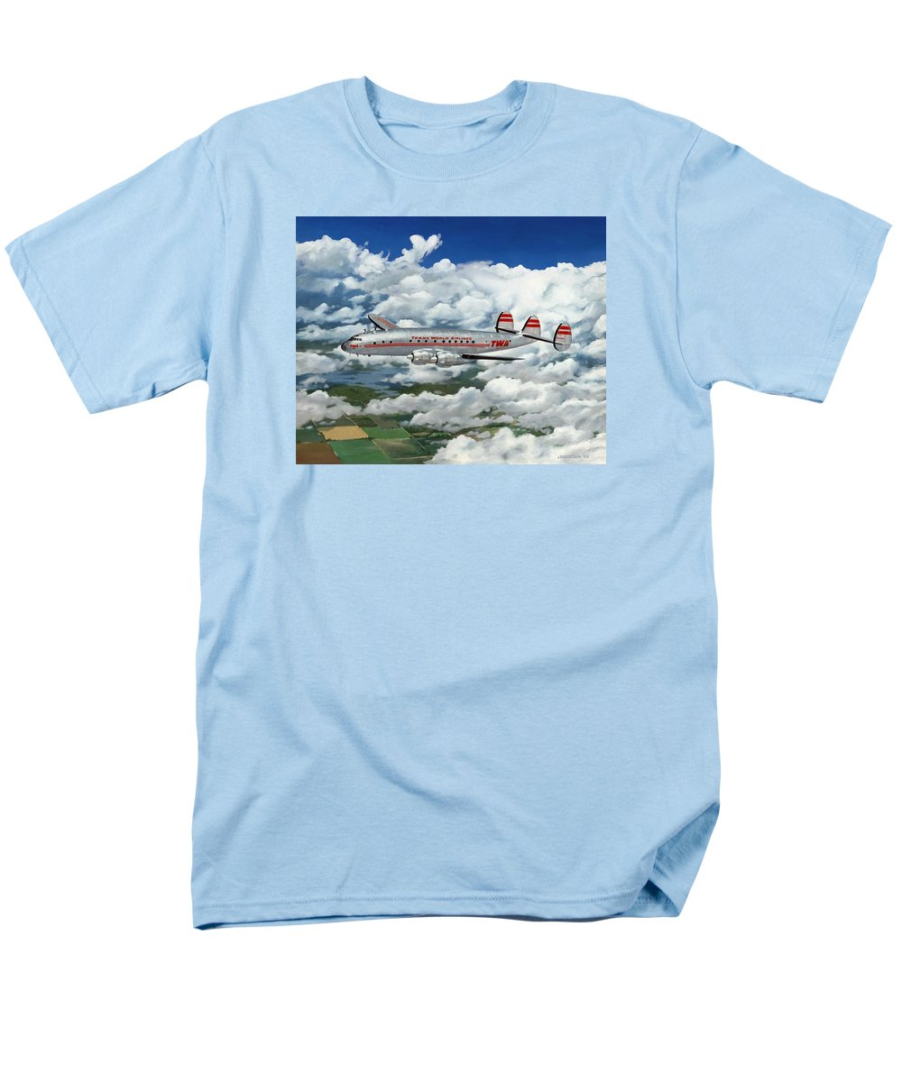 Aircraft Men's T-Shirt (Regular Fit) featuring the painting The Star of the China Sea by James Robertson