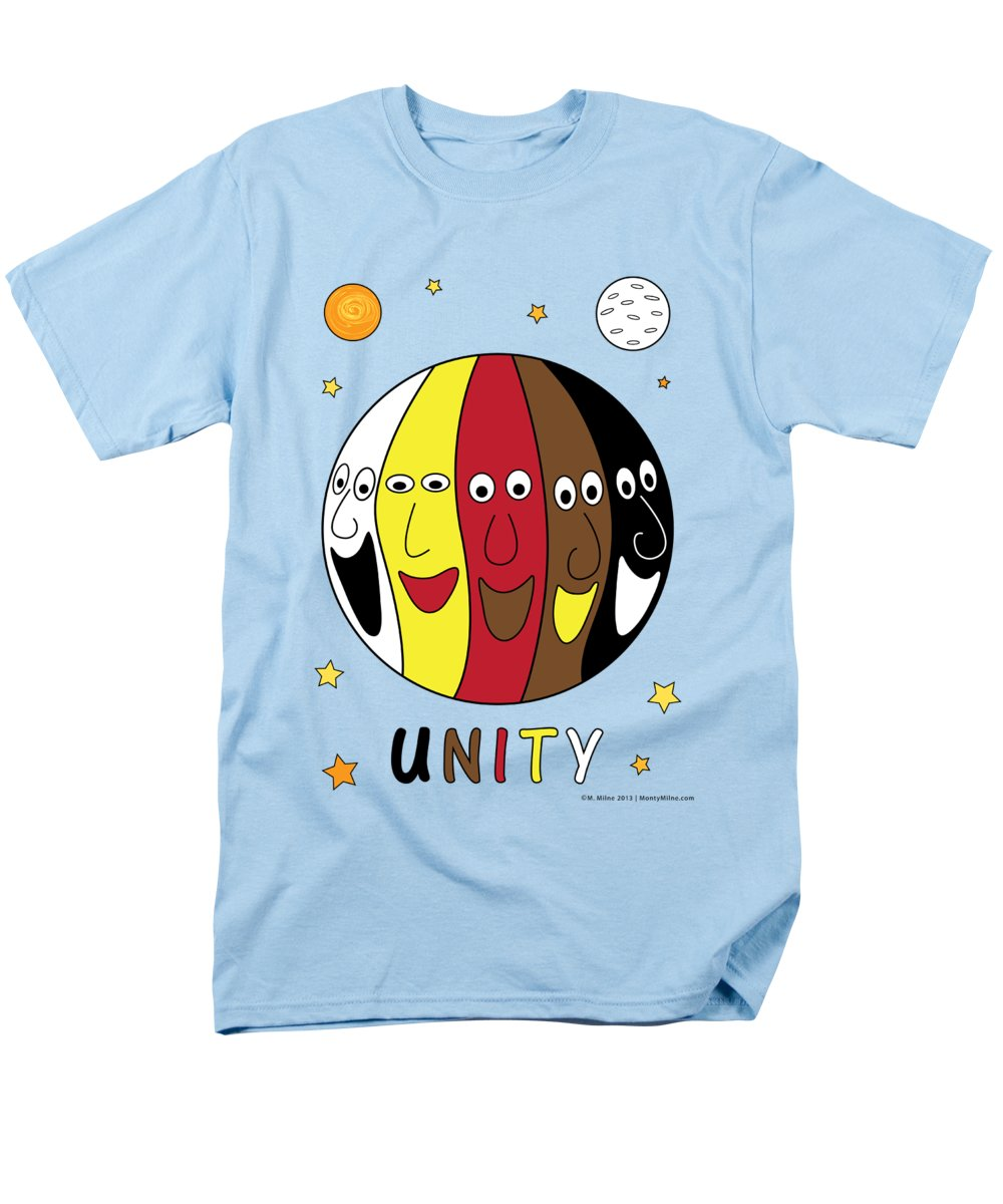 Unity Men's T-Shirt (Regular Fit) featuring the digital art Unity by Monty Milne