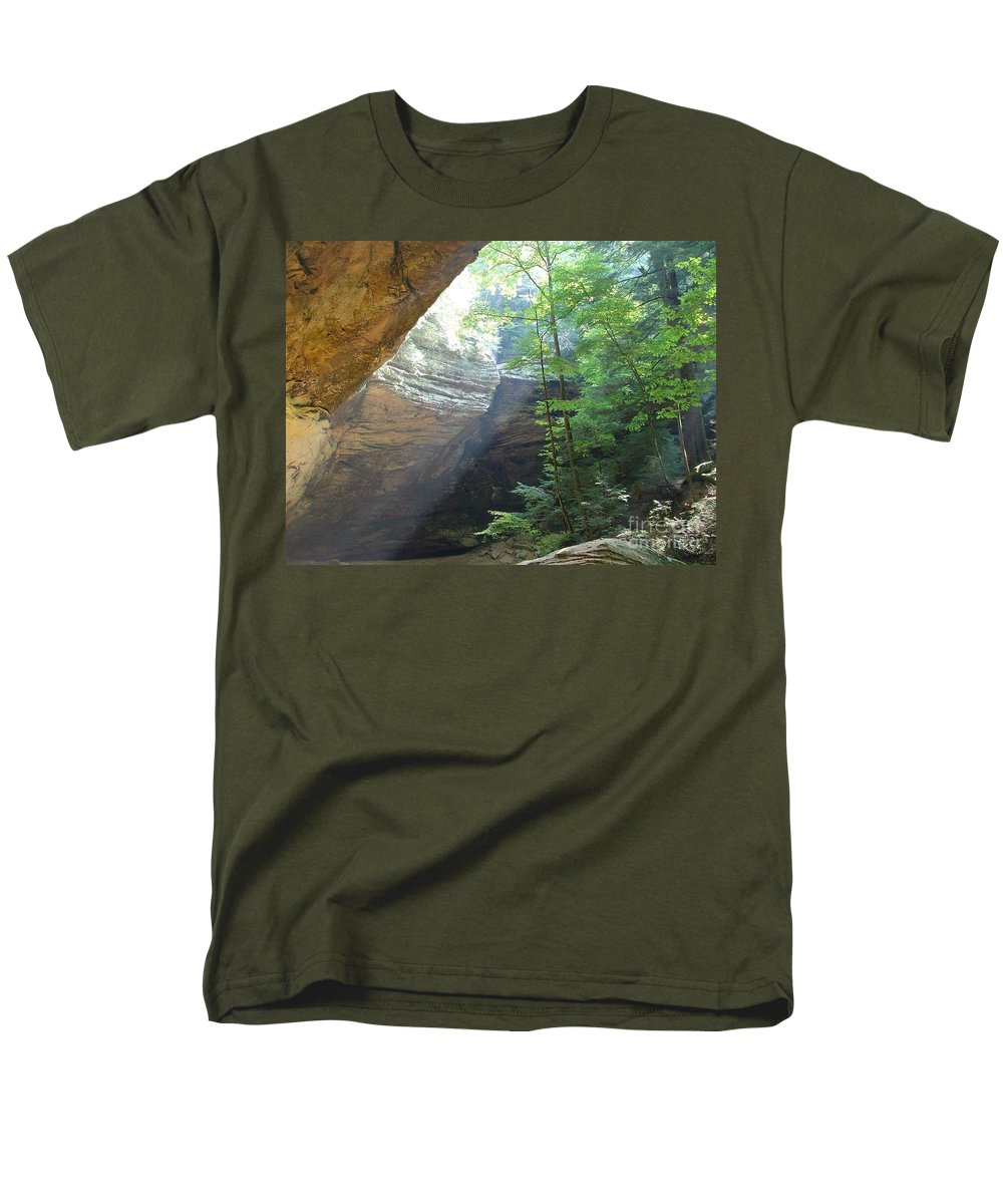 Photograph Men's T-Shirt (Regular Fit) featuring the photograph Ash Cave by Mindy Newman