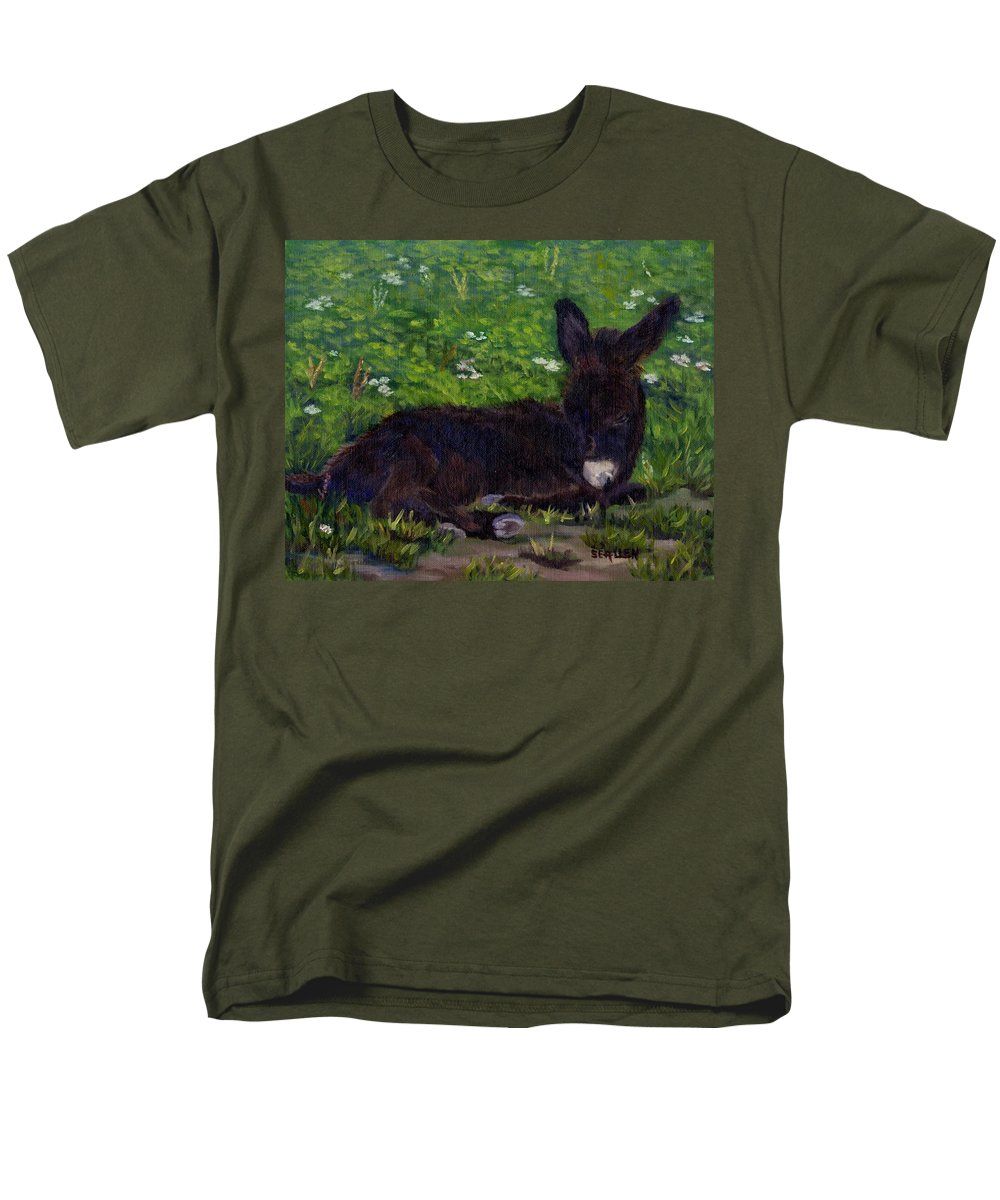 Donkey Men's T-Shirt (Regular Fit) featuring the painting Hercules by Sharon E Allen