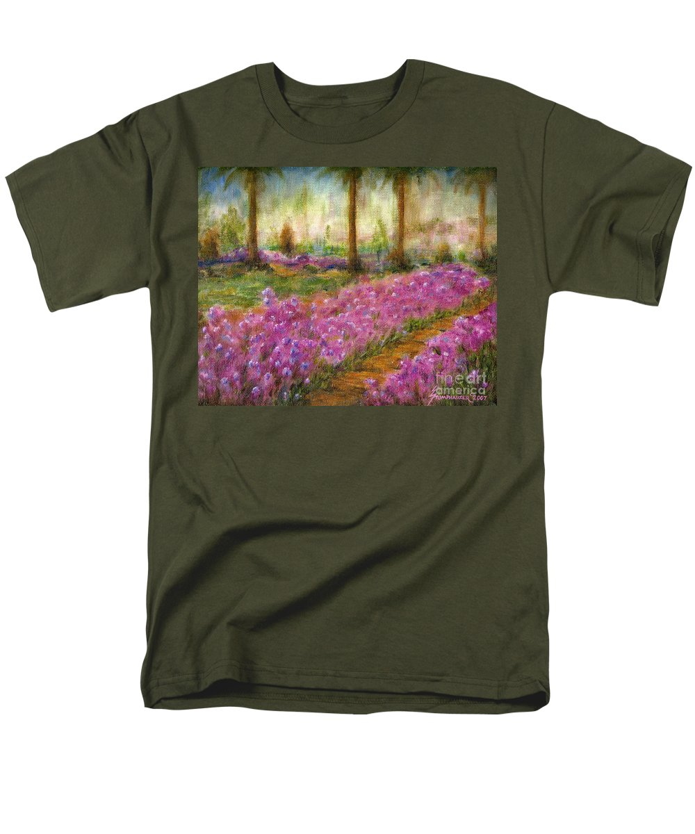 Monet Men's T-Shirt (Regular Fit) featuring the painting Monet's Garden In Cannes by Jerome Stumphauzer
