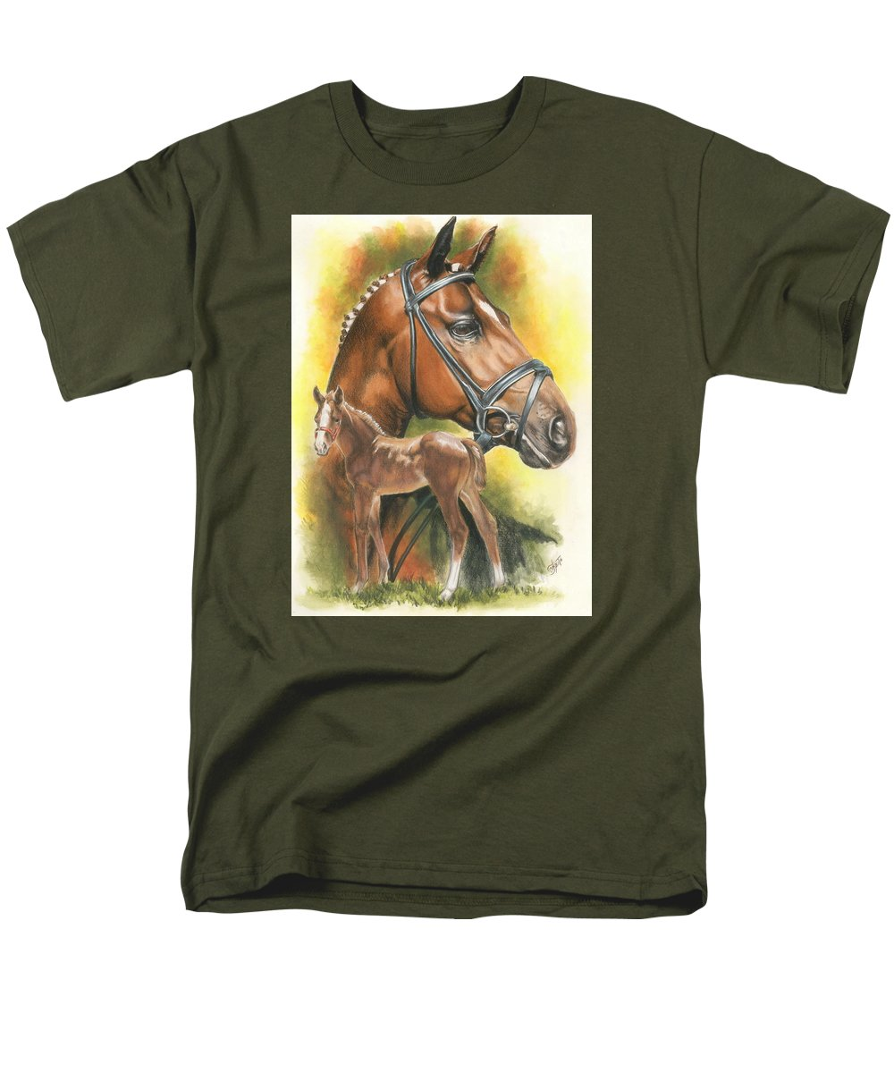 Equus Men's T-Shirt (Regular Fit) featuring the mixed media Trakehner by Barbara Keith